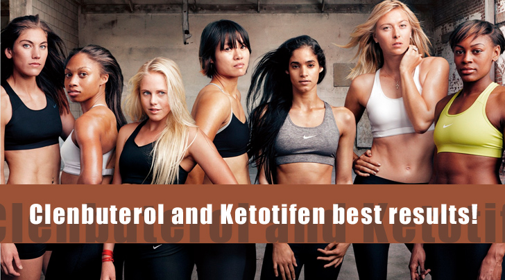 Clenbuterol and Ketotifen best results!
