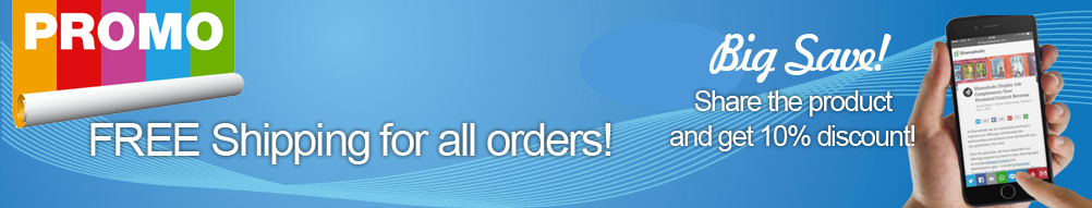 FREE Shipping for all orders!