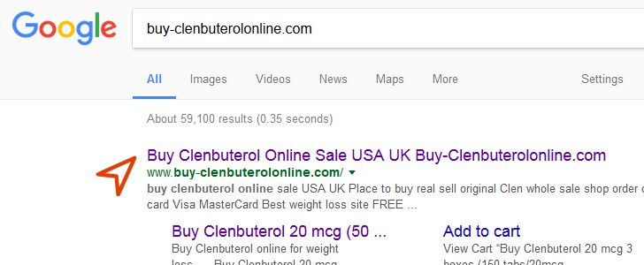 Buy Clenbuterol on Google